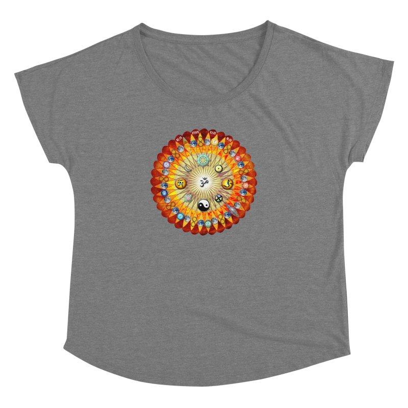 Ra Ma Da Sa Sa Say So Hung Mandala Women's Dolman Scoop Neck by InspiredPsychedelics's Artist Shop