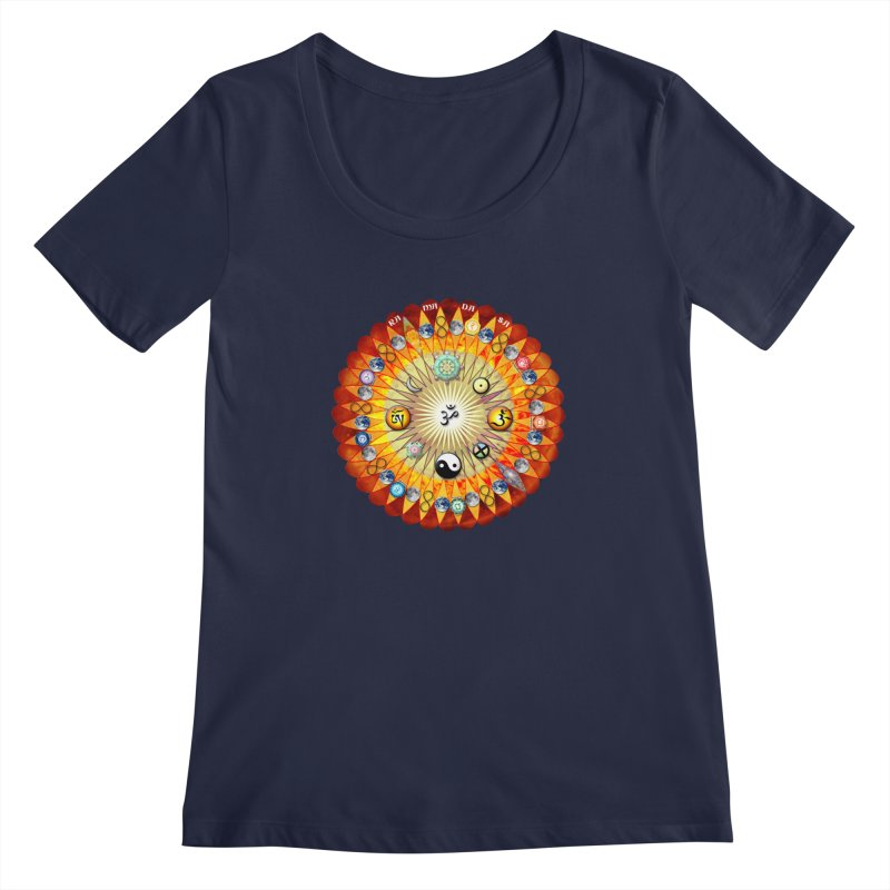 Ra Ma Da Sa Sa Say So Hung Mandala Women's Regular Scoop Neck by InspiredPsychedelics's Artist Shop