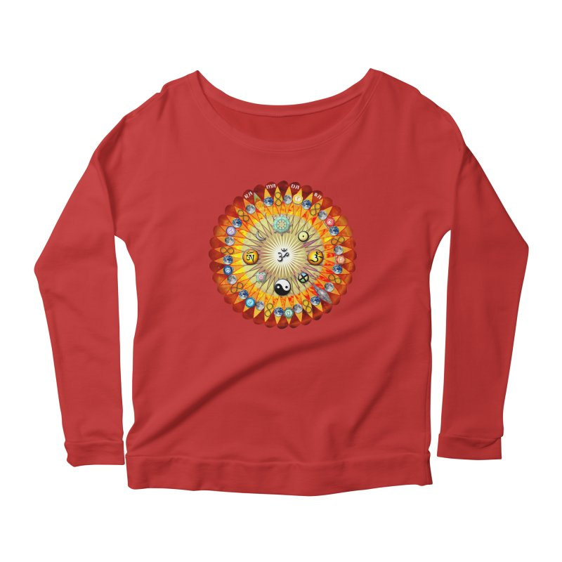 Ra Ma Da Sa Sa Say So Hung Mandala Women's Scoop Neck Longsleeve T-Shirt by InspiredPsychedelics's Artist Shop