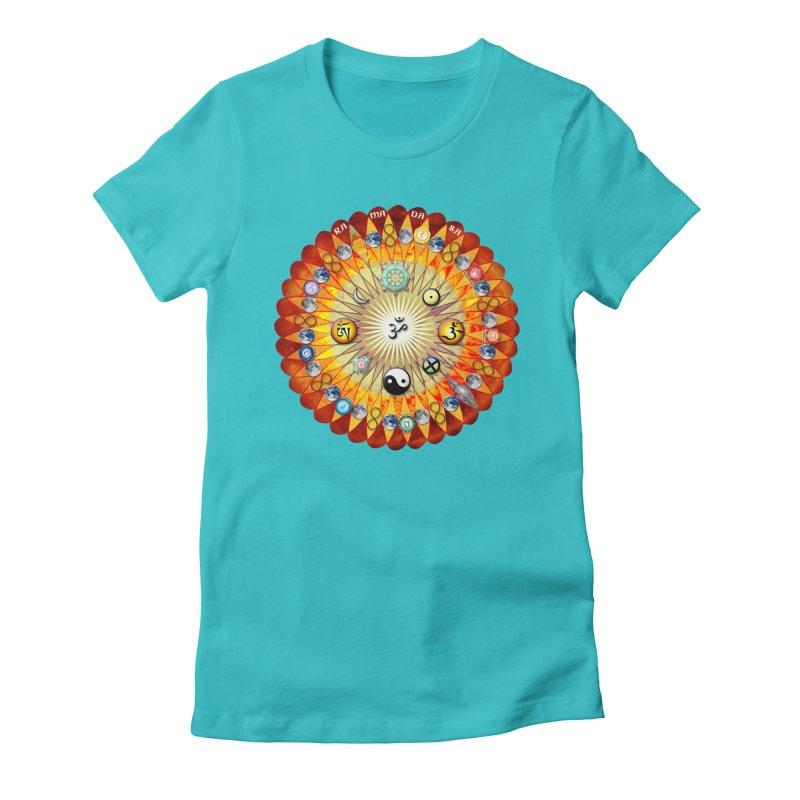 Ra Ma Da Sa Sa Say So Hung Mandala Women's Fitted T-Shirt by InspiredPsychedelics's Artist Shop