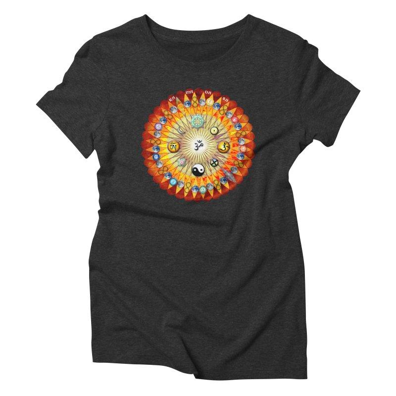 Ra Ma Da Sa Sa Say So Hung Mandala Women's Triblend T-Shirt by InspiredPsychedelics's Artist Shop