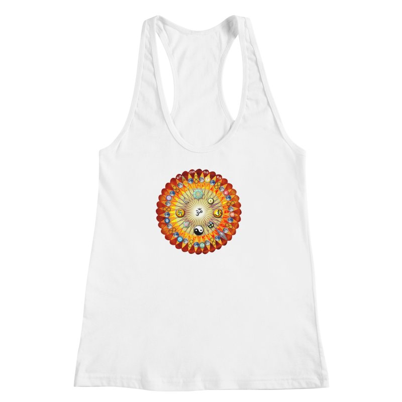 Ra Ma Da Sa Sa Say So Hung Mandala Women's Racerback Tank by InspiredPsychedelics's Artist Shop