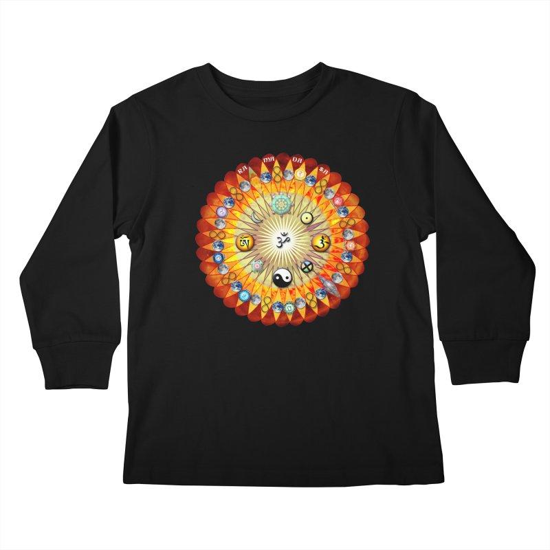 Ra Ma Da Sa Sa Say So Hung Mandala Kids Longsleeve T-Shirt by InspiredPsychedelics's Artist Shop