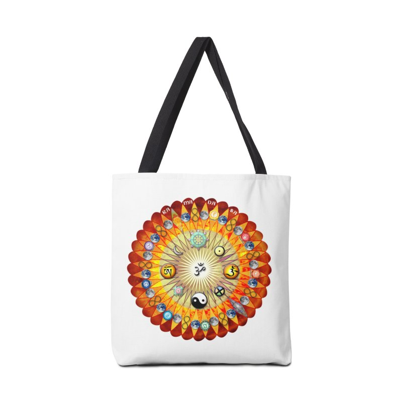 Ra Ma Da Sa Sa Say So Hung Mandala Accessories Bag by InspiredPsychedelics's Artist Shop