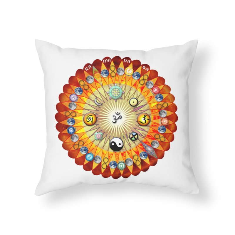 Ra Ma Da Sa Sa Say So Hung Mandala Home Throw Pillow by InspiredPsychedelics's Artist Shop