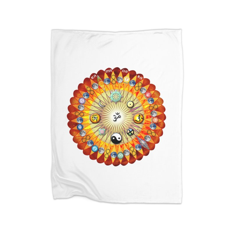 Ra Ma Da Sa Sa Say So Hung Mandala Home Blanket by InspiredPsychedelics's Artist Shop
