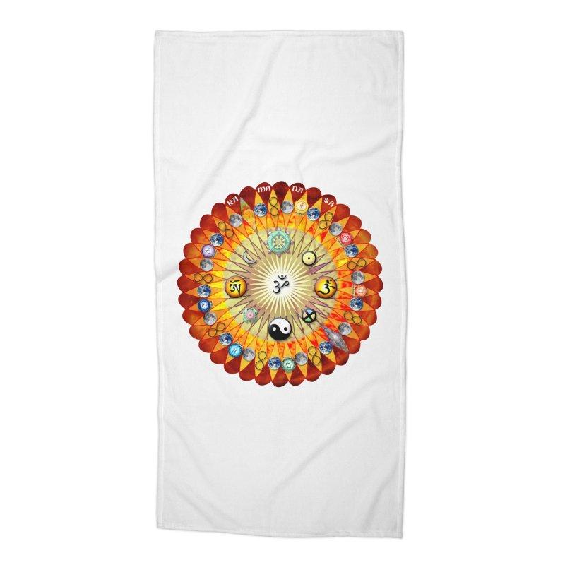 Ra Ma Da Sa Sa Say So Hung Mandala Accessories Beach Towel by InspiredPsychedelics's Artist Shop