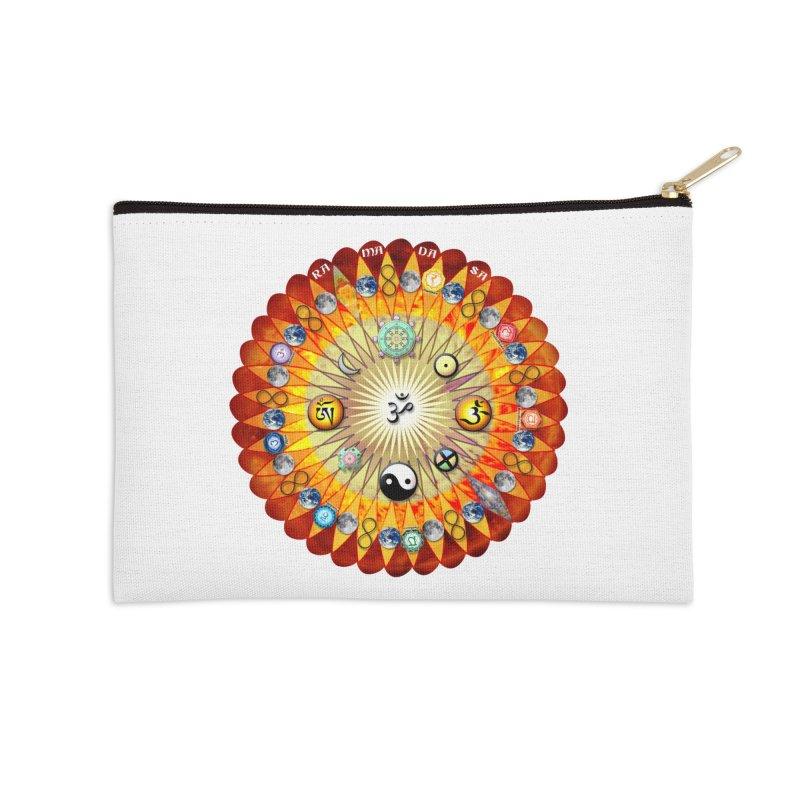 Ra Ma Da Sa Sa Say So Hung Mandala Accessories Zip Pouch by InspiredPsychedelics's Artist Shop