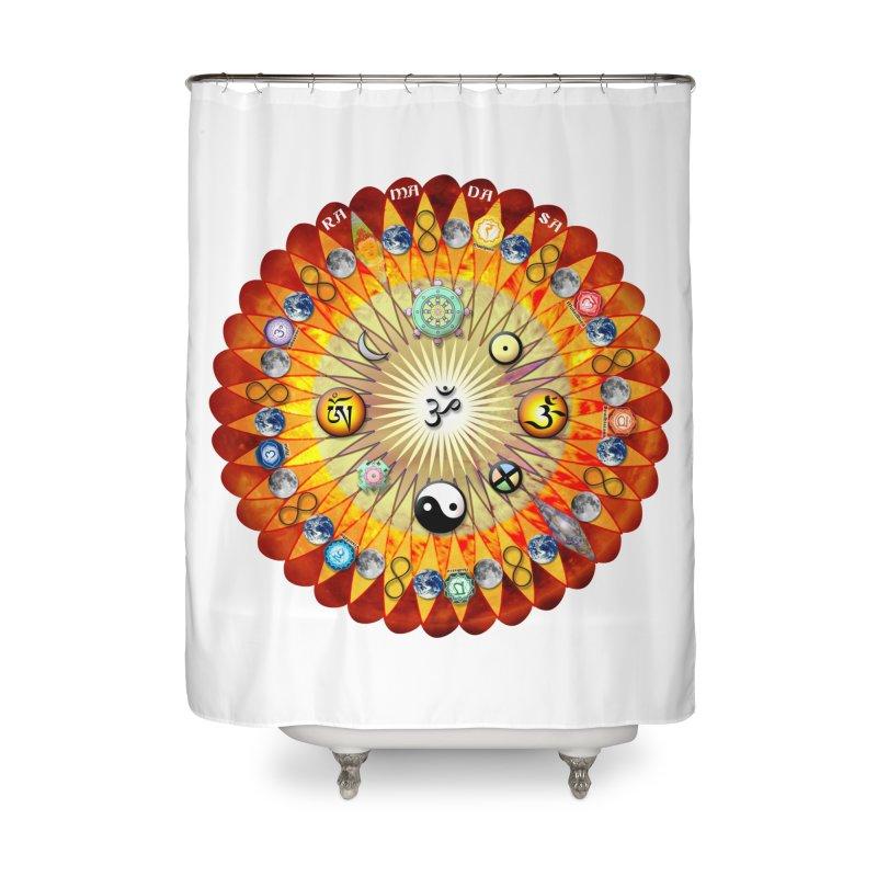 Ra Ma Da Sa Sa Say So Hung Mandala Home Shower Curtain by InspiredPsychedelics's Artist Shop