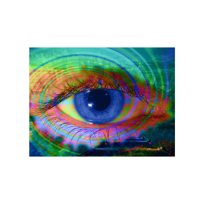 Blue Night Eye: Part of the Eye Series by InspiredPsychedelics's Artist Shop