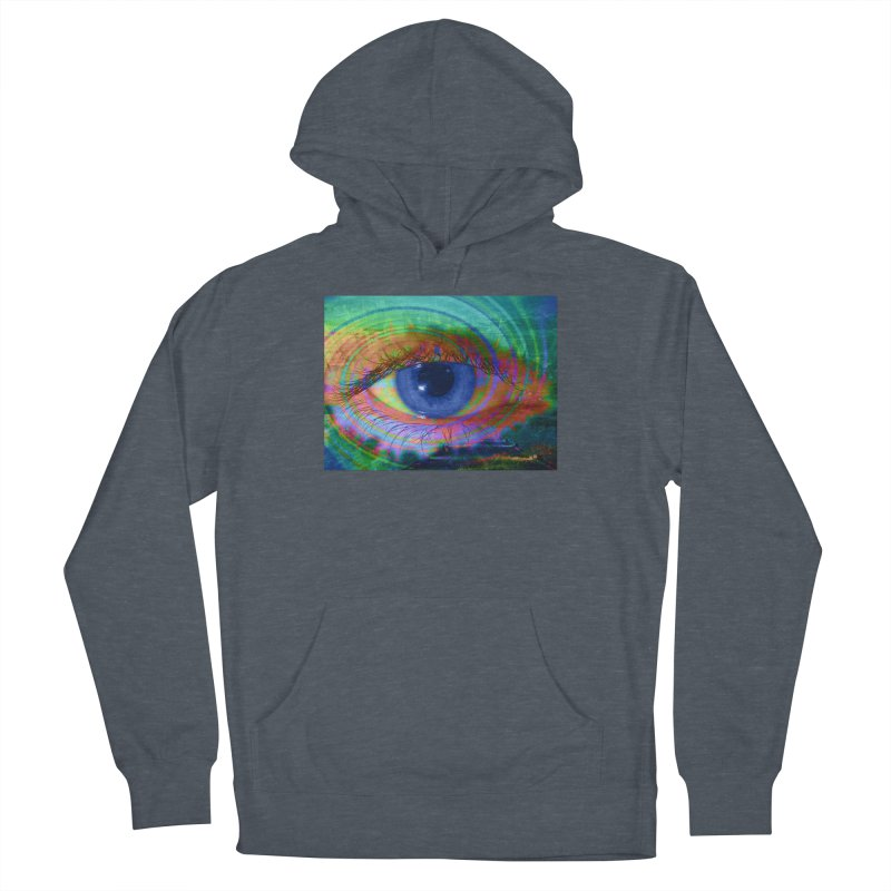 Blue Night Eye: Part of the Eye Series Women's French Terry Pullover Hoody by InspiredPsychedelics's Artist Shop