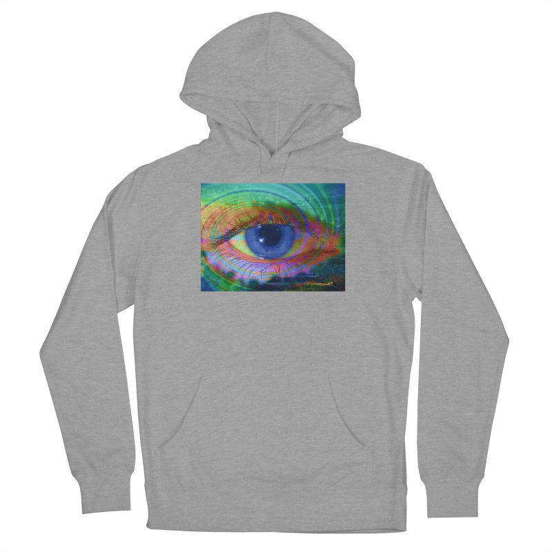 Blue Night Eye: Part of the Eye Series Men's French Terry Pullover Hoody by InspiredPsychedelics's Artist Shop