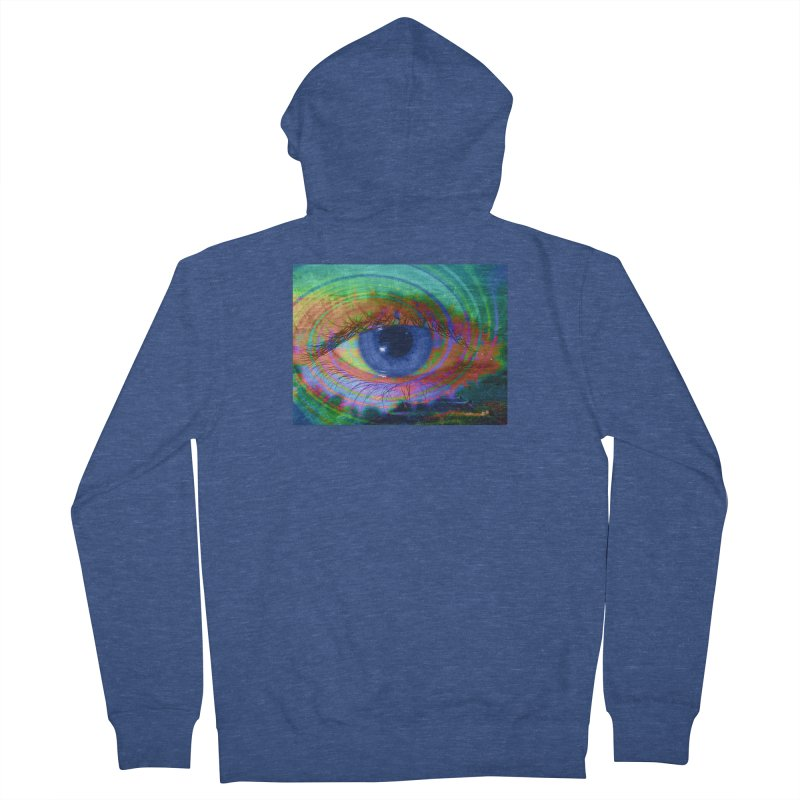 Blue Night Eye: Part of the Eye Series Women's French Terry Zip-Up Hoody by InspiredPsychedelics's Artist Shop