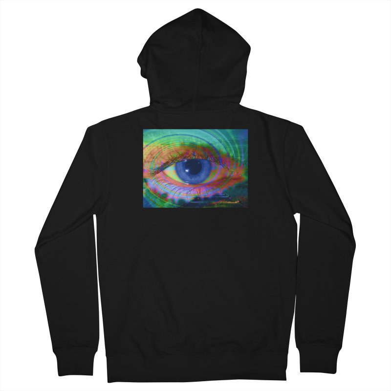 Blue Night Eye: Part of the Eye Series Men's French Terry Zip-Up Hoody by InspiredPsychedelics's Artist Shop