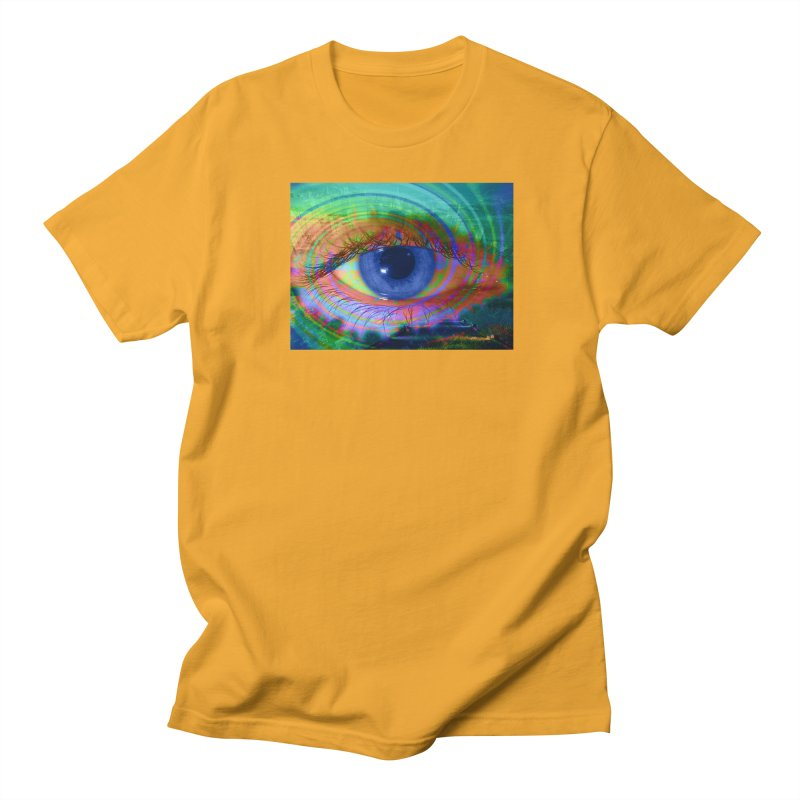 Blue Night Eye: Part of the Eye Series Men's Regular T-Shirt by InspiredPsychedelics's Artist Shop