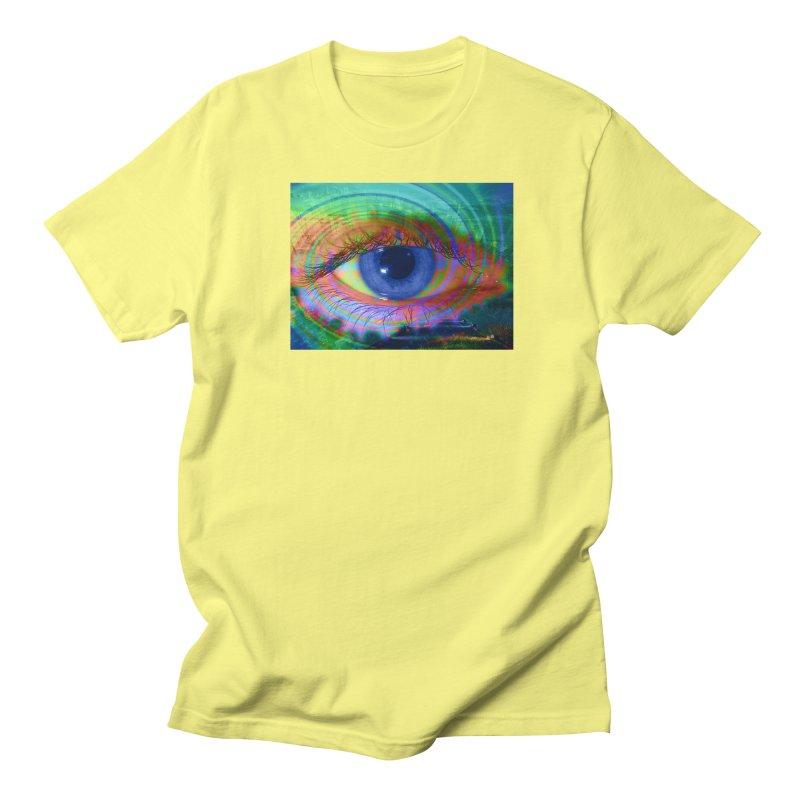 Blue Night Eye: Part of the Eye Series Men's Regular T-Shirt by InspiredPsychedelics's Artist Shop