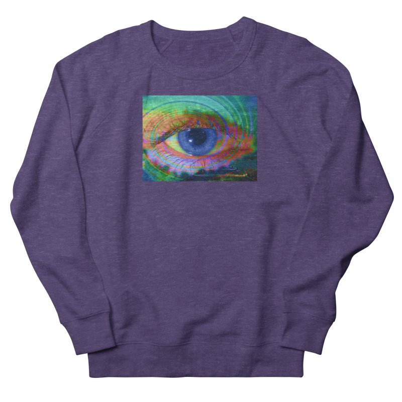 Blue Night Eye: Part of the Eye Series Women's French Terry Sweatshirt by InspiredPsychedelics's Artist Shop