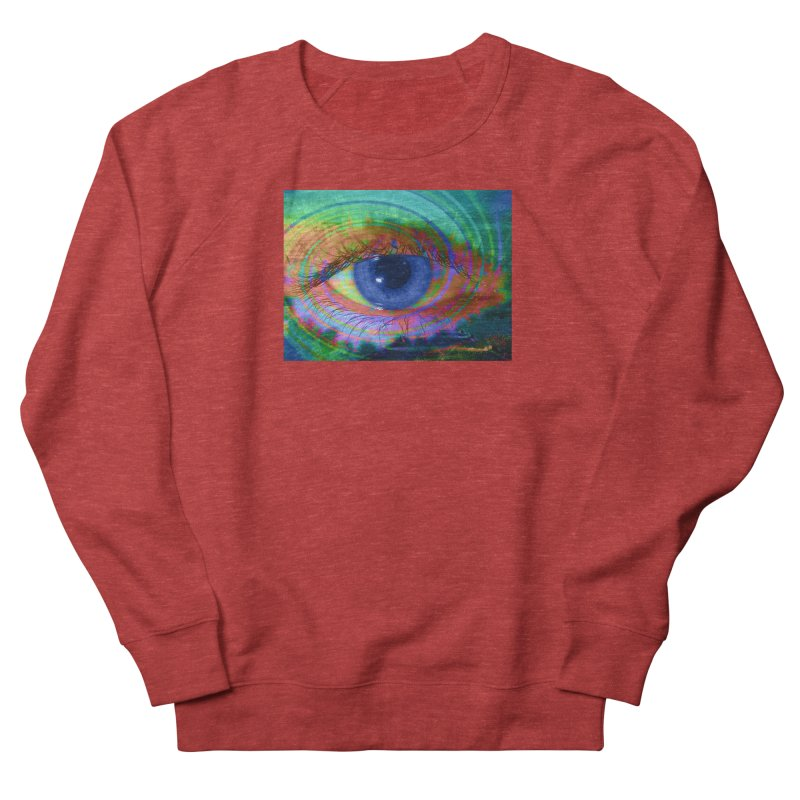 Blue Night Eye: Part of the Eye Series Men's French Terry Sweatshirt by InspiredPsychedelics's Artist Shop