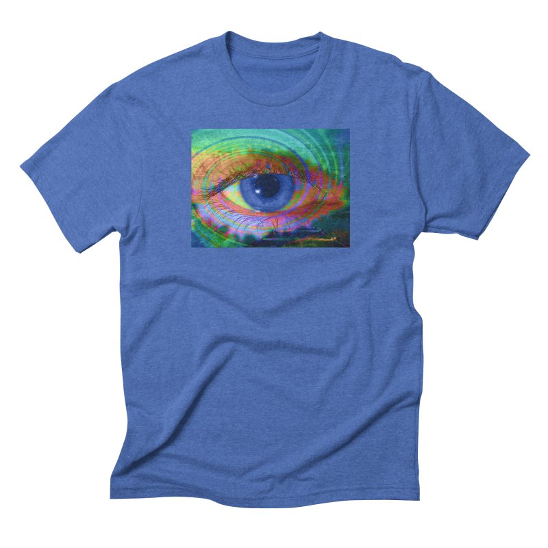Blue Night Eye: Part of the Eye Series Men's Triblend T-Shirt by InspiredPsychedelics's Artist Shop