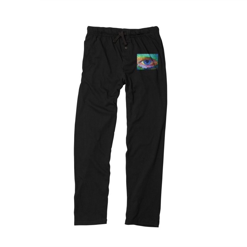 Blue Night Eye: Part of the Eye Series Men's Lounge Pants by InspiredPsychedelics's Artist Shop
