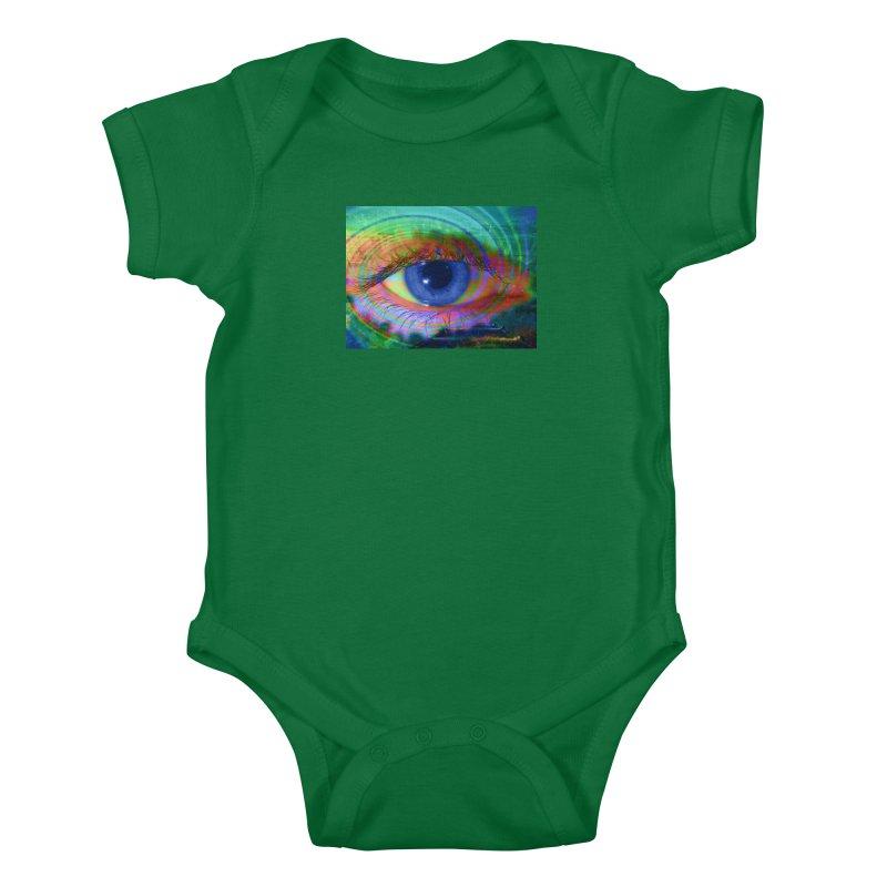 Blue Night Eye: Part of the Eye Series Kids Baby Bodysuit by InspiredPsychedelics's Artist Shop
