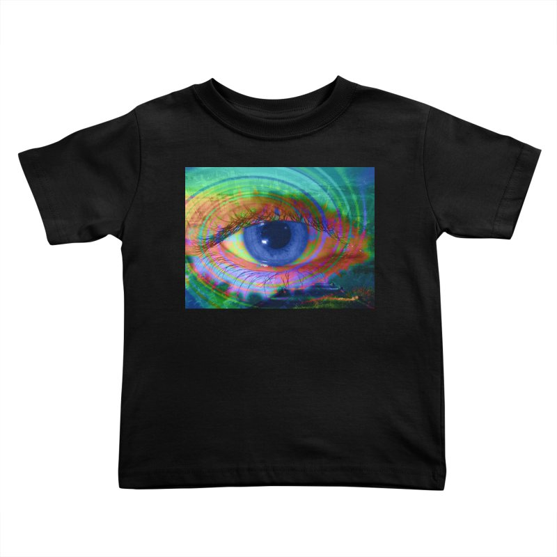 Blue Night Eye: Part of the Eye Series Kids Toddler T-Shirt by InspiredPsychedelics's Artist Shop