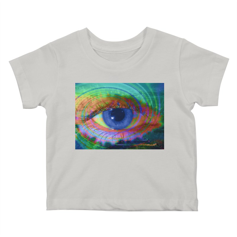 Blue Night Eye: Part of the Eye Series Kids Baby T-Shirt by InspiredPsychedelics's Artist Shop
