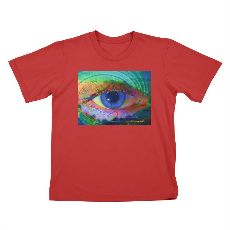 Blue Night Eye: Part of the Eye Series Kids T-Shirt by InspiredPsychedelics's Artist Shop