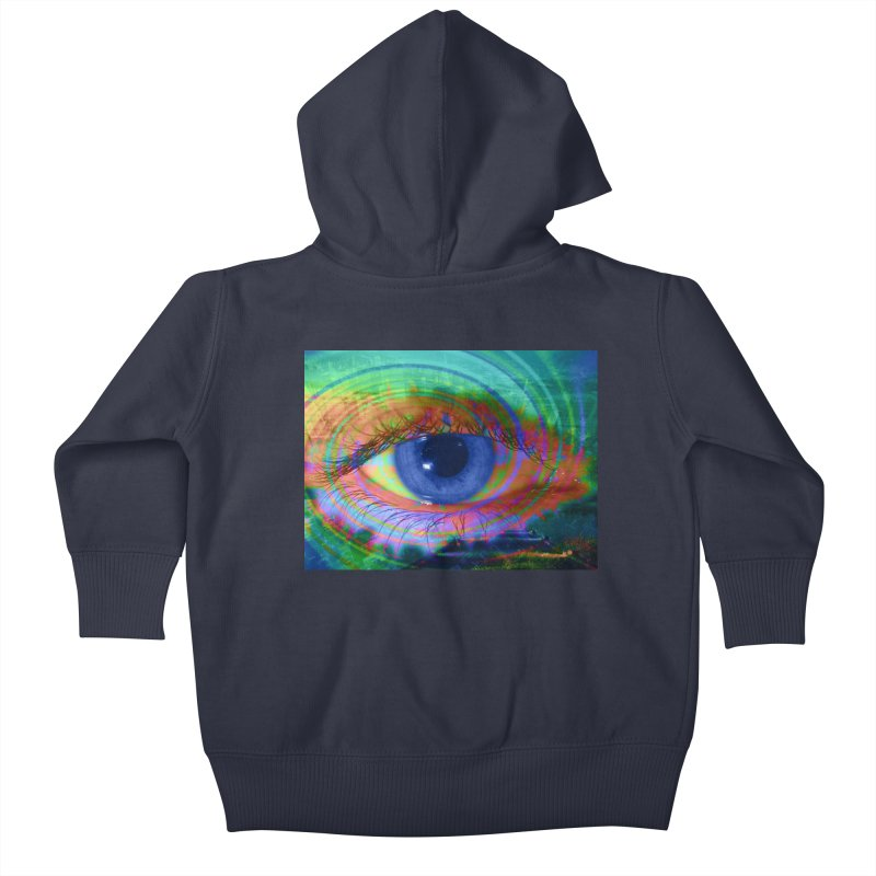 Blue Night Eye: Part of the Eye Series Kids Baby Zip-Up Hoody by InspiredPsychedelics's Artist Shop