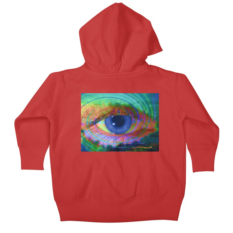 Blue Night Eye: Part of the Eye Series Kids Baby Zip-Up Hoody by InspiredPsychedelics's Artist Shop