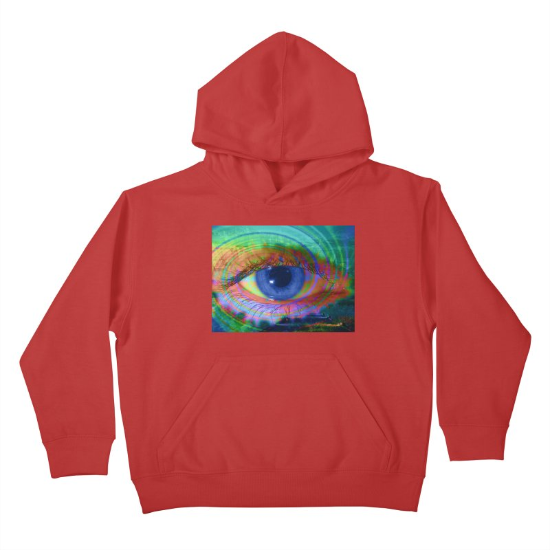 Blue Night Eye: Part of the Eye Series Kids Pullover Hoody by InspiredPsychedelics's Artist Shop
