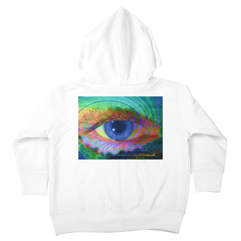 Blue Night Eye: Part of the Eye Series Kids Toddler Zip-Up Hoody by InspiredPsychedelics's Artist Shop