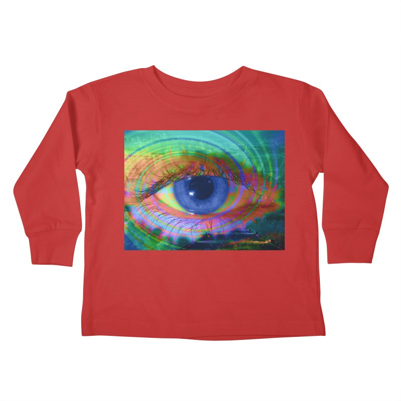 Blue Night Eye: Part of the Eye Series Kids Toddler Longsleeve T-Shirt by InspiredPsychedelics's Artist Shop
