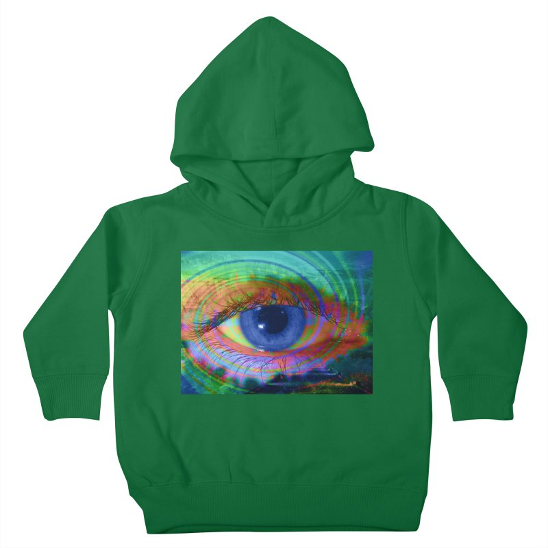 Blue Night Eye: Part of the Eye Series Kids Toddler Pullover Hoody by InspiredPsychedelics's Artist Shop