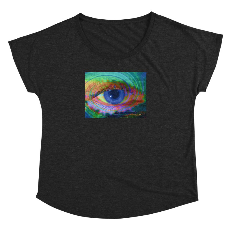 Blue Night Eye: Part of the Eye Series Women's Dolman Scoop Neck by InspiredPsychedelics's Artist Shop