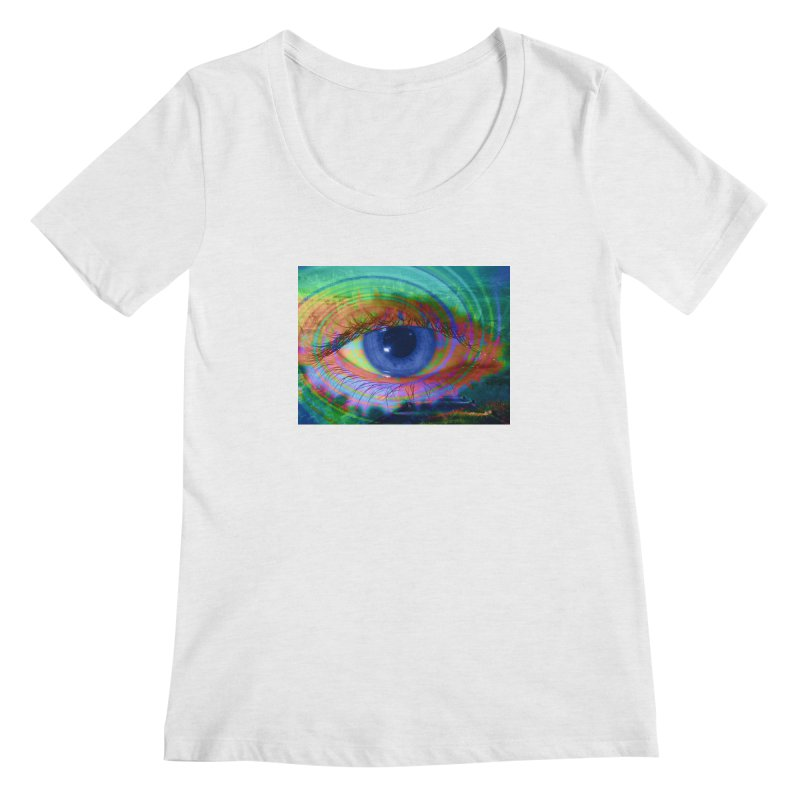 Blue Night Eye: Part of the Eye Series Women's Regular Scoop Neck by InspiredPsychedelics's Artist Shop