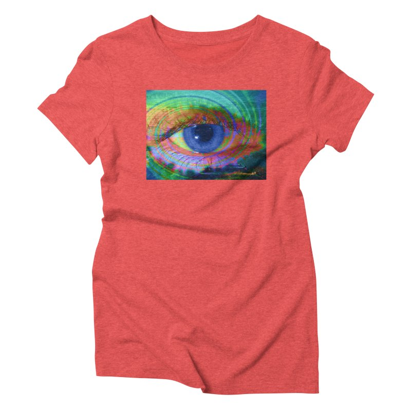 Blue Night Eye: Part of the Eye Series Women's Triblend T-Shirt by InspiredPsychedelics's Artist Shop