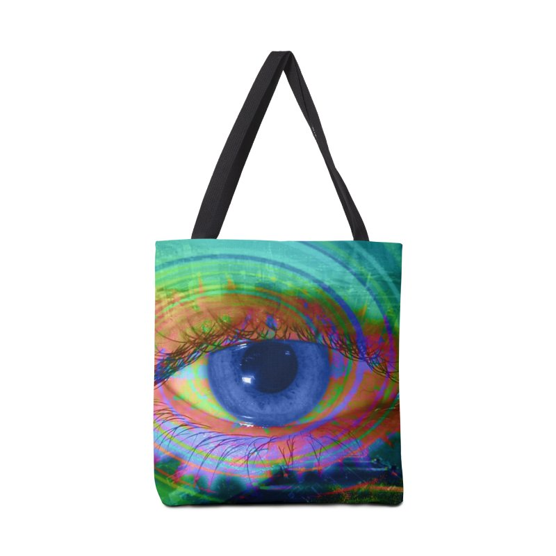 Blue Night Eye: Part of the Eye Series Accessories Bag by InspiredPsychedelics's Artist Shop