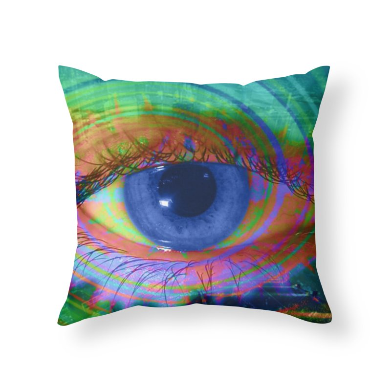 Blue Night Eye: Part of the Eye Series Home Throw Pillow by InspiredPsychedelics's Artist Shop