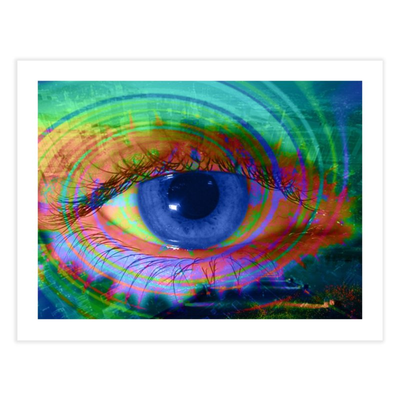 Blue Night Eye: Part of the Eye Series Home Fine Art Print by InspiredPsychedelics's Artist Shop