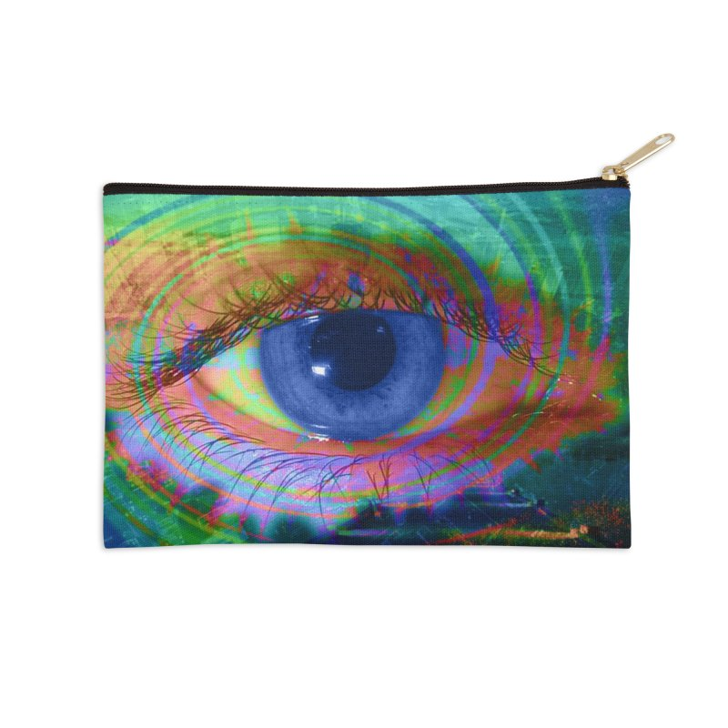 Blue Night Eye: Part of the Eye Series Accessories Zip Pouch by InspiredPsychedelics's Artist Shop