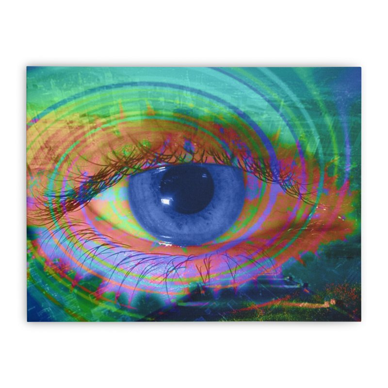 Blue Night Eye: Part of the Eye Series Home Stretched Canvas by InspiredPsychedelics's Artist Shop