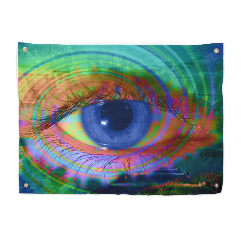 Blue Night Eye: Part of the Eye Series Home Tapestry by InspiredPsychedelics's Artist Shop