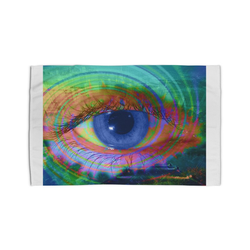Blue Night Eye: Part of the Eye Series Home Rug by InspiredPsychedelics's Artist Shop