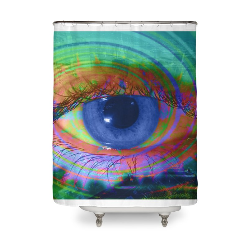 Blue Night Eye: Part of the Eye Series Home Shower Curtain by InspiredPsychedelics's Artist Shop