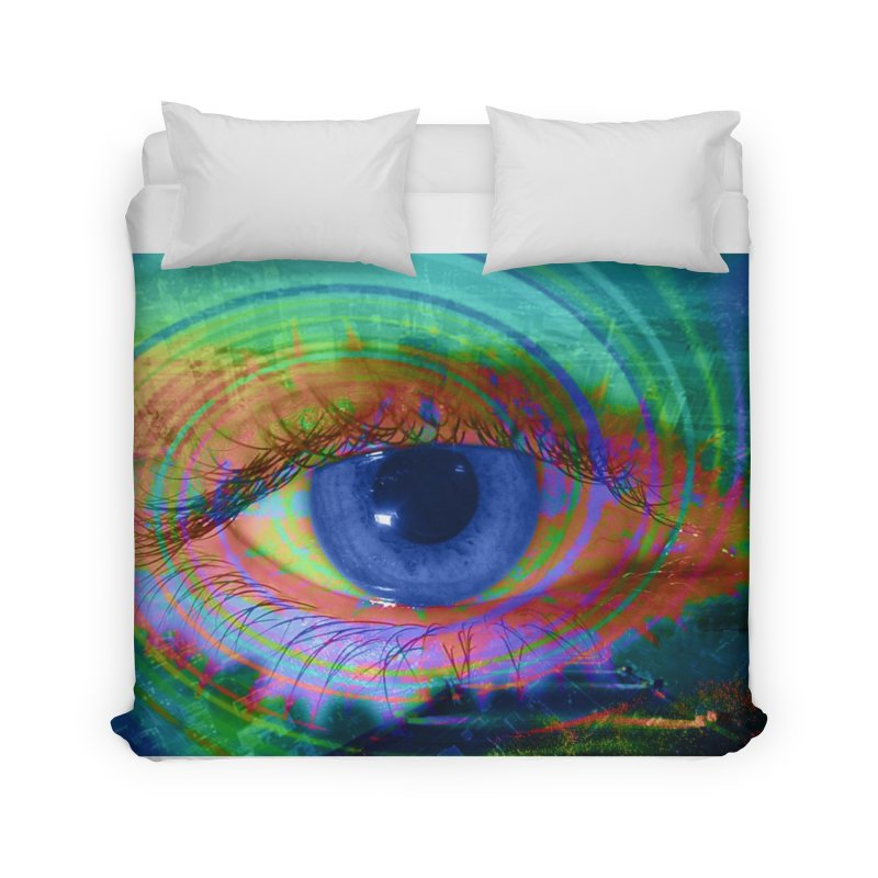 Blue Night Eye: Part of the Eye Series Home Duvet by InspiredPsychedelics's Artist Shop