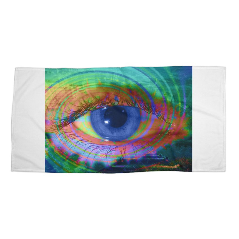 Blue Night Eye: Part of the Eye Series Accessories Beach Towel by InspiredPsychedelics's Artist Shop