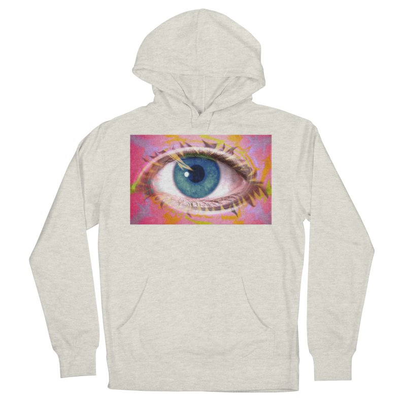 Feathery Eye: Part of the Eye Series Women's French Terry Pullover Hoody by InspiredPsychedelics's Artist Shop