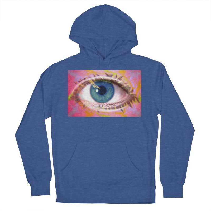 Feathery Eye: Part of the Eye Series Men's French Terry Pullover Hoody by InspiredPsychedelics's Artist Shop