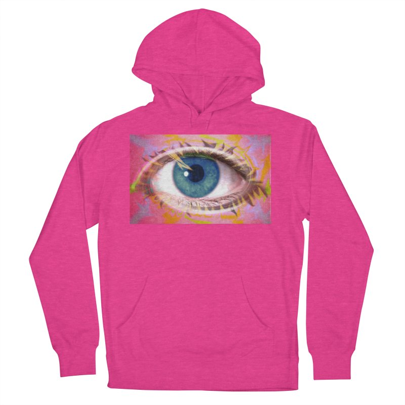 Feathery Eye: Part of the Eye Series Men's Pullover Hoody by InspiredPsychedelics's Artist Shop
